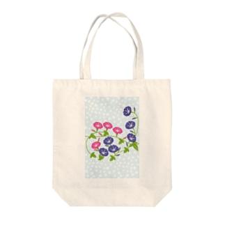 朝顔の花 Tote bags