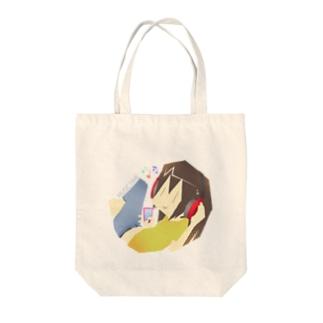 ミュージックタイム Tote bags