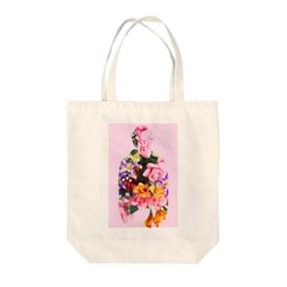 pink kawase Tote bags