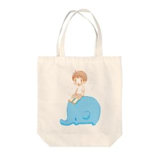 ぼうちゃんとぱおチャン Tote bags