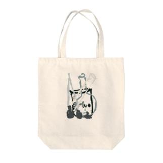 モノクロ ケミカル Tote bags