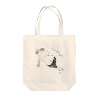 よっぱらい(Tバック)モノクロ Tote bags