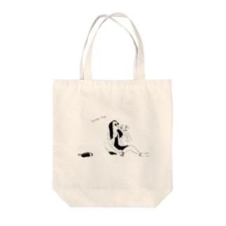 よっぱらい(サングラス)モノクロ Tote bags