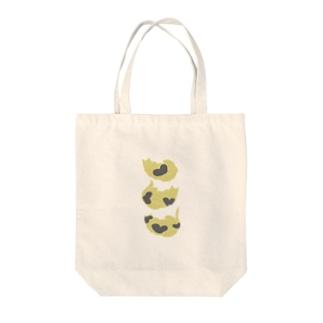 ハート柄1.2.3ネコチャン Tote bags
