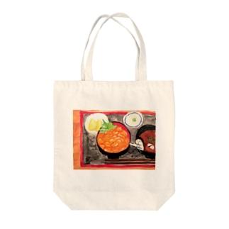 ウニ丼相撲 Tote bags