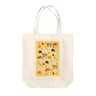 たくさんきのこ Tote bags