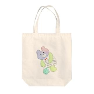 くまのこチャンプ Tote bags