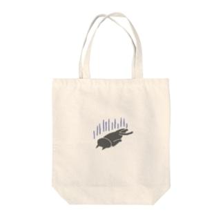 へこむネコ Tote bags