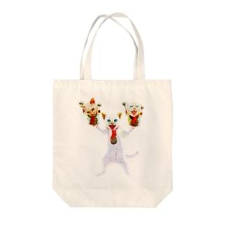 猫福2 Tote bags