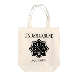 UGA ロゴ 【BLACK】 Tote bags