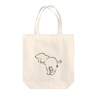 うんこわんこ Tote bags