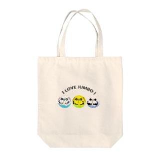 I LOVE JUMBO! Tote bags