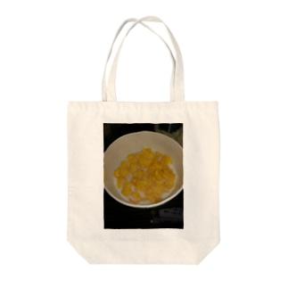 コーンフレーク Tote bags
