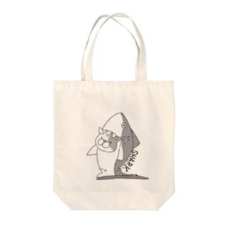 サメになりたかったヌコ Tote Bag