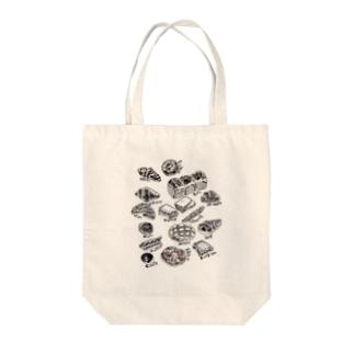 パンたち Tote bags