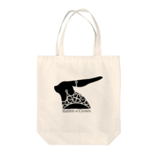 Rabbit of Crown(うさぎver.) Tote bags