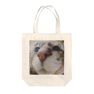 鼻だけクゥさん Tote bags