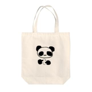 手話で手話を表現するパンダ Tote bags