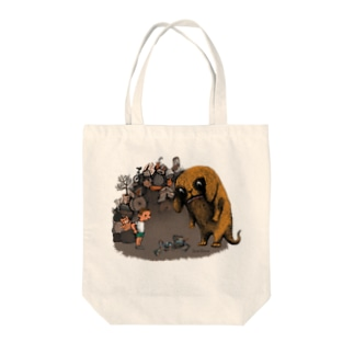 "Dark blanco ""Monster 4"" Tote bags"