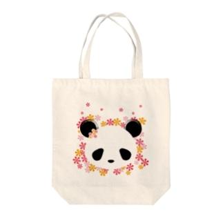 花パンダ Tote bags