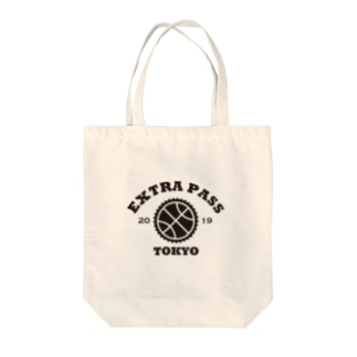 EXTRA PASS COLLEGE LOGO TOKYO EDITION Tote bags