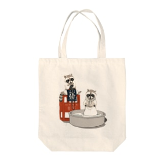 どうぶつの蔵人(アライグマ) Tote bags