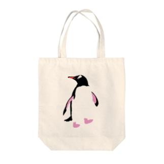 ジェンツーペンギン Tote bags