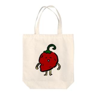 からいっけ Tote bags