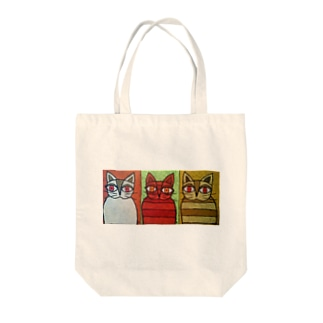 Three cats Tote bags