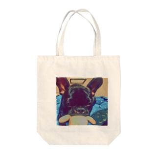 フレンチブルドッグ Tote bags