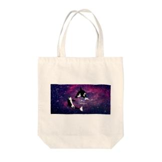 シャチ:ギャラクシー Tote bags