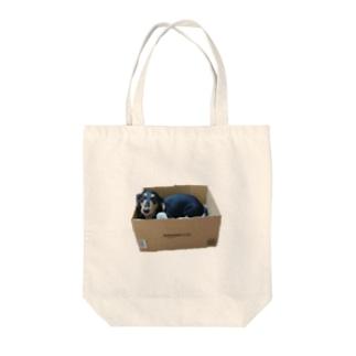 箱犬アマゾネス Tote bags