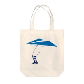 紙飛行機の術 Tote bags