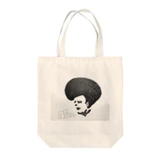 ペンキ屋さんの描いたイラスト キングオブアフロ Tote bags