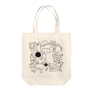 BOOKCATCOFFEE Tote bags