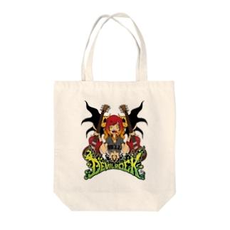 DEVIL ROCK Tote bags