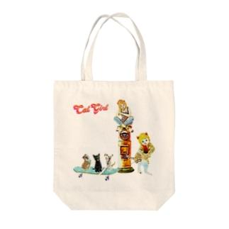 Rock catの巡業 猫楽団 Tote bags