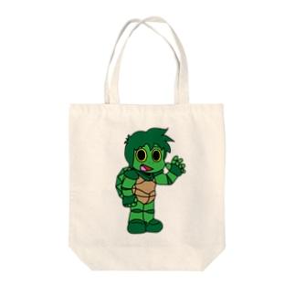 Kame Boy Tote bags