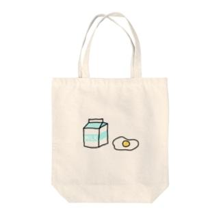 牛乳と卵 Tote bags
