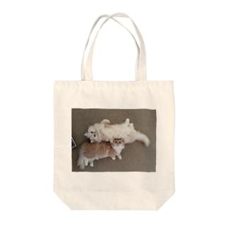 猫 Life with Cuties C&R1 Tote bags