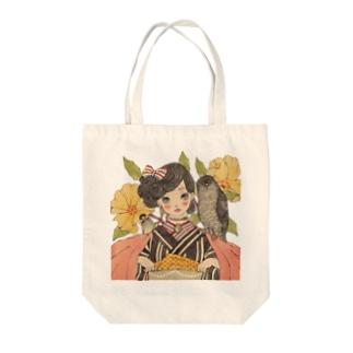 薔薇にとり Tote bags