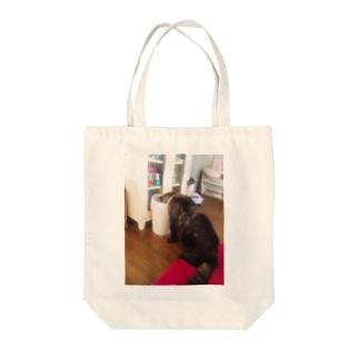 飲み過ぎ反省ネコ Tote bags