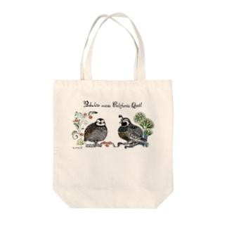 コリンウズラとカンムリウズラ Tote bags