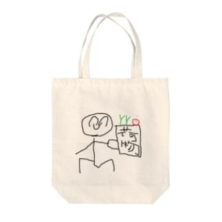 かいものをするひとくん Tote bags