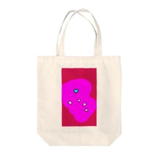 るんるんハート Tote bags