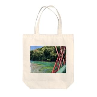 絶景シリーズ【緑の川】 Tote bags
