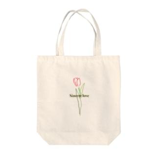 誠実な愛 Tote bags
