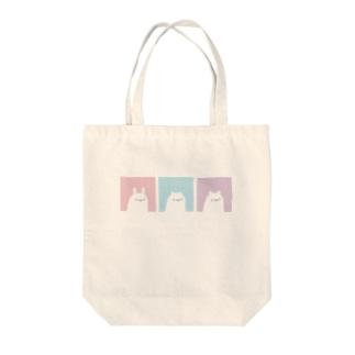 みみ3びき Tote bags