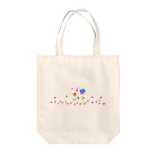 ハートの花を咲かせよう Tote bags