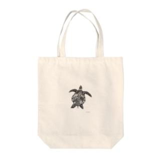 幻想ウミガメ Tote bags